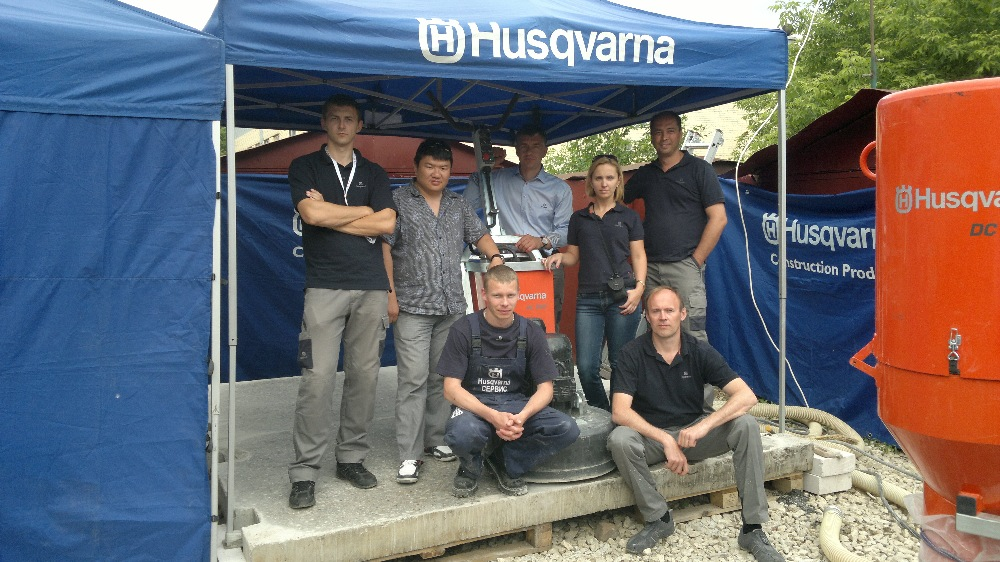 Сотрудники Husqvarna Construction