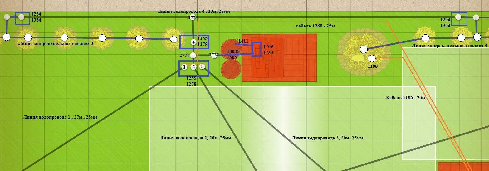 План подключения клапанов - пример 3