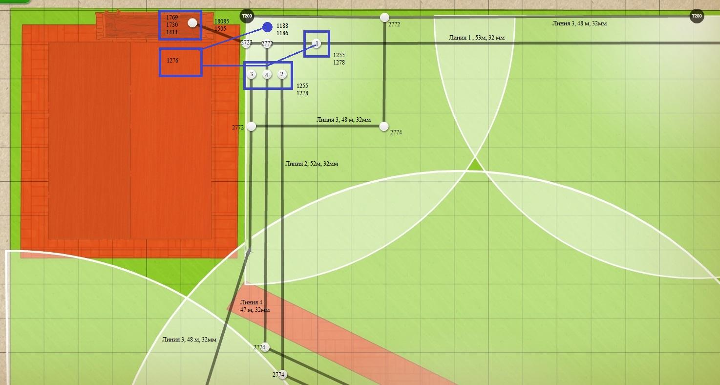 План подключения клапанов - пример 4