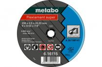 Отрезной круг Metabo 230х2,5х22,23мм Flexiamant Super А 36-Т прямой  616115000