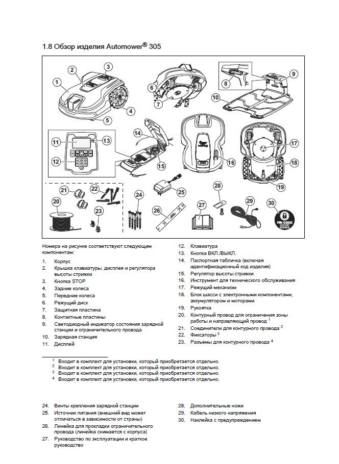 Инструкция робота газонокосилки Husqvarna Automower 305
