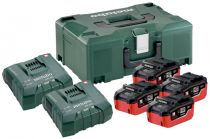 Базовый комплект Metabo 18 В LiHD 4х6,2Ач + ЗУ 2хASC ULTRA AIR COOLED + Metaloc  685104000