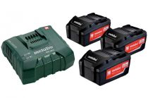 Базовый комплект Metabo 18 В Li-Power 3х5,2Ач + ЗУ ASC ULTRA AIR COOLED  685061000